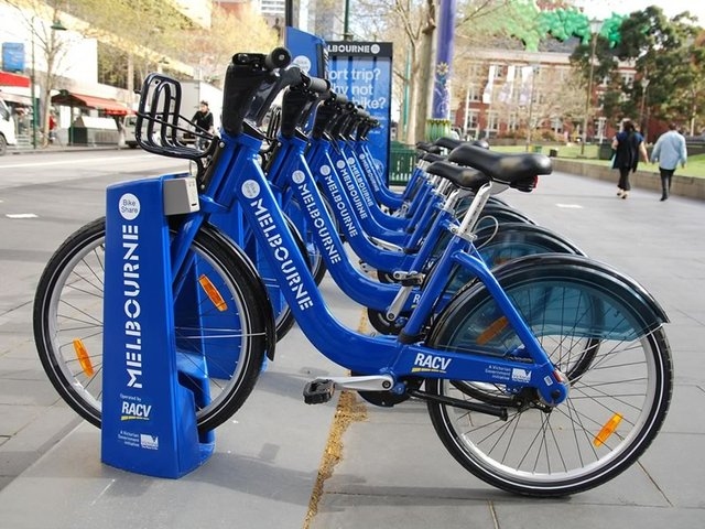 Melbourne Bike Share Station, State Library of Victoria