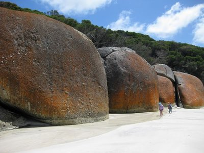 Boulders at the End of Squeaky Beach