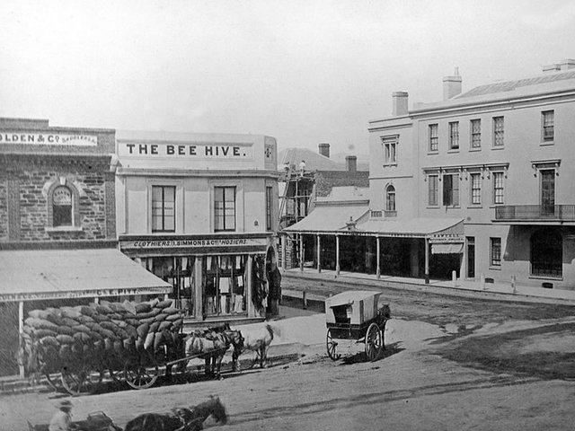 Beehive Corner, Cnr King William & Rundle Streets, 1866