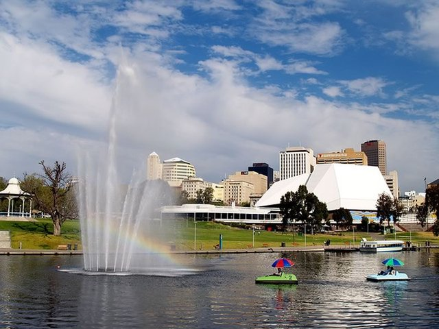 Adelaide City from River Torrens