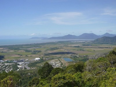 View East Over Cairns From the Edge of the Atherton Tablelands