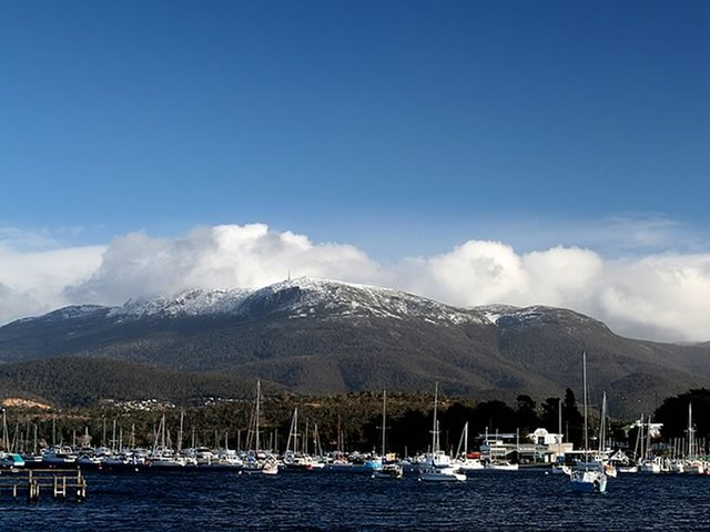 Mt Wellington Over the Bay