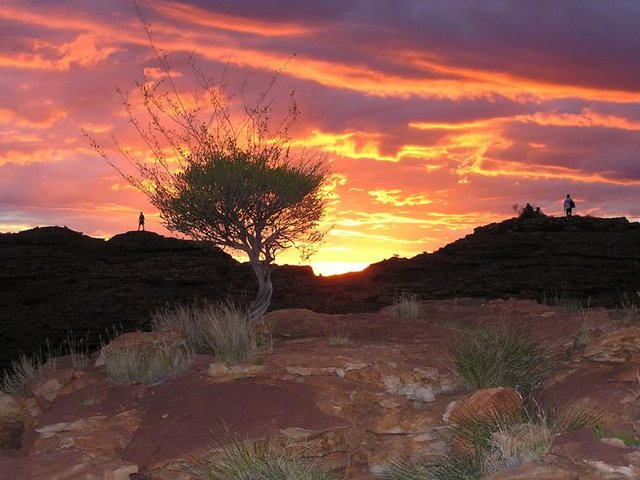 Sunset at Kings Canyon