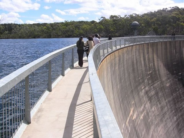 Whispering Wall at Barossa Reservoir
