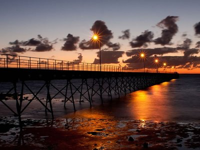 Sunset over Ceduna Jetty