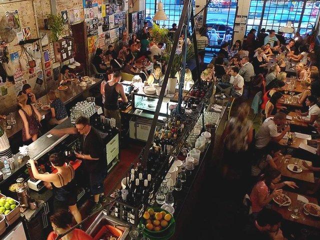 Veggie Bar, Brunswick St, Fitzroy
