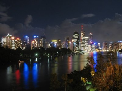 Brisbane City from the Kangaroo Point Cliffs