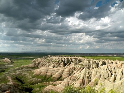 Badlands in June After Heavy Rains