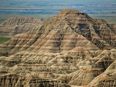Colored Shale of the Badlands Buttes