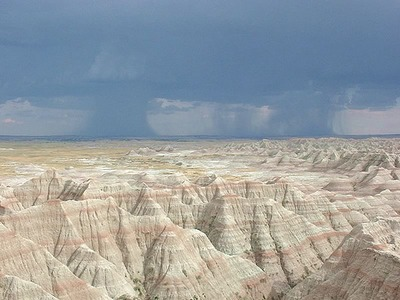 Thunderstorm Over the Badlands
