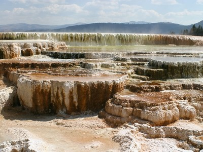 Upper Terraces of Mammoth Hot Springs