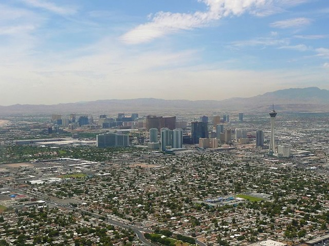Las Vegas Skyline and Spring Mountains