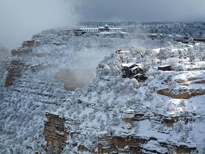 South Rim Village in Winter