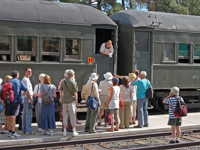 Meeting the Grand Canyon Railway