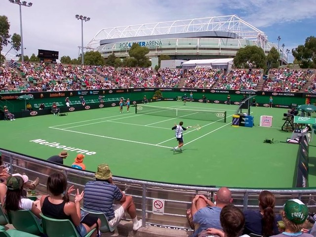 Outdoor Courts at the Australian Open