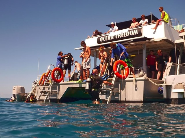 Getting Ready to Dive the Great Barrier Reef