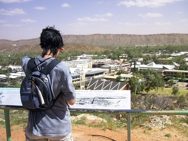 Anzac Hill Lookout Over Alice Springs