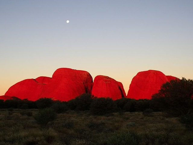 The Olgas at Sunset