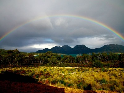 Rainbow Over Coles Bay and The Hazards